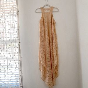 NWT Love Squared Lace Maxi Dress Pink Size Small